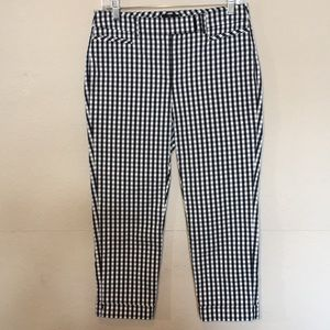 White House Black Market gingham pant blk&wht Sz 2